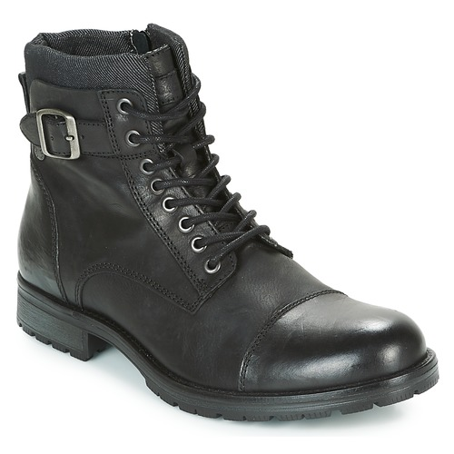 Chaussures Homme Boots Jack & Jones ALBANY LEATHER Noir