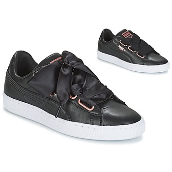 Chaussures Femme Baskets basses Puma WN SUEDE HEART LEATHER.BLA BLACK