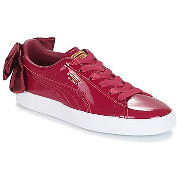 Chaussures Femme Baskets basses Puma WN SUEDE BOW PATENT.TIBETA BORDEAU