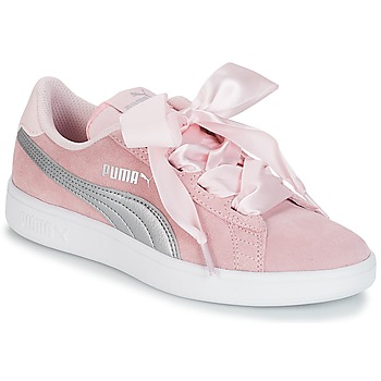 Chaussures Fille Baskets basses Puma JR PUMA SMASH RIBB.PINK PINK
