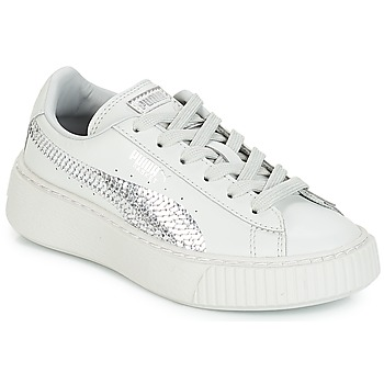 Chaussures Fille Baskets basses Puma G PS B PLATFORM BLING.GRAY GRAY