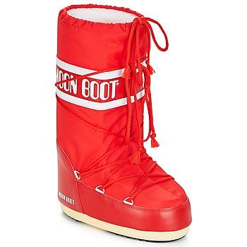 Chaussures Bottes de neige Moon Boot NYLON Rouge