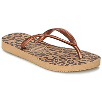 Chaussures Fille Tongs Havaianas SLIM ANIMALS Bronze