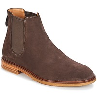 Chaussures Homme Boots Clarks CLARKDALE Dark Brown Suede