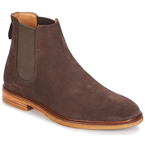Chaussures Homme Boots Clarks Clarkdale Gobi Dark Brown Suede