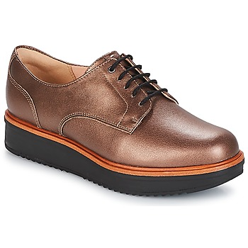 Chaussures Femme Derbies Clarks TEADALE Dark Tan Lea