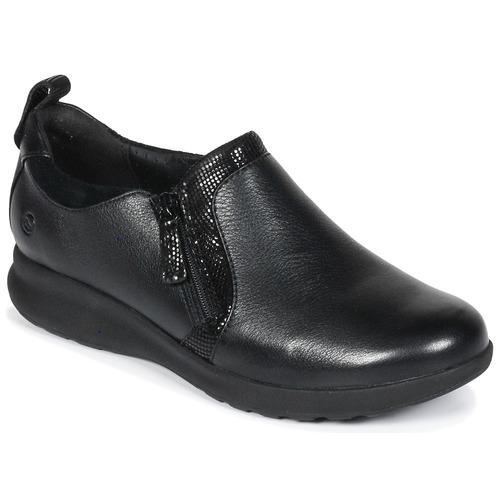 Chaussures Femme Derbies Clarks Un Adorn Zip Black Combi