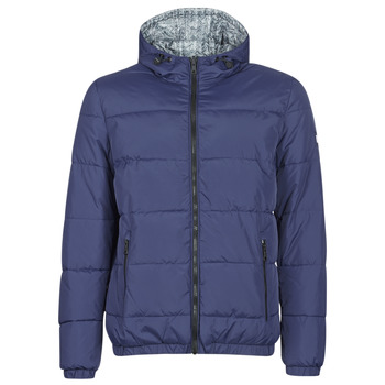 Vêtements Homme Doudounes Tommy Hilfiger REVERSIBLE HOODED BOMBER Marine réversible Chevron gris