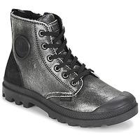 Chaussures Femme Boots Palladium PAMPA HI Noir / Argenté