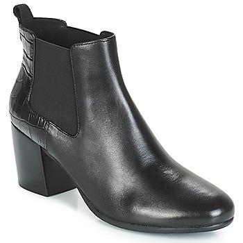 Chaussures Femme Bottines Geox D NEW LUCINDA Noir