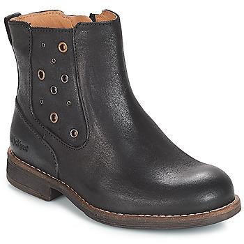 Chaussures Fille Bottes ville Kickers SMAD Noir