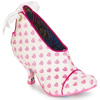 Chaussures Femme Low boots Irregular Choice Love is all around Blanc / rose