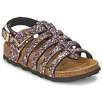 Chaussures Air max tnFille Sandales et Nu-pieds Betula Original Betula Fussbett LEONA Rose / Multicolore
