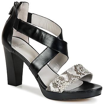 Chaussures Femme Sandales et Nu-pieds Perlato IREGUA Noir / Python