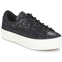 Chaussures Femme Baskets basses Converse ONE STAR PLATFORM OX Black/Gunmetal/Egret