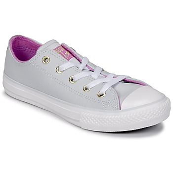 Chaussures Fille Baskets montantes Converse CHUCK TAYLOR ALL STAR HI Pure Platinum/Fuchsia Glow/White