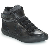 Chaussures Enfant Baskets montantes Converse PRO BLAZE STRAP LEATHER HI Noir