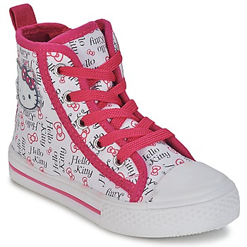 Chaussures Fille Baskets montantes Hello Kitty LYNDA Blanc