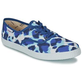 Chaussures Femme Baskets basses Victoria INGLESA ESTAMP HUELLA TIGRE Bleu