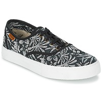 Chaussures Femme Baskets basses Victoria INGLES ESTAP HOJAS TROPICAL Noir