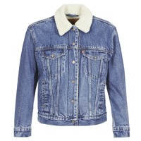 Vêtements Femme Vestes en jean Levi's EX-BF SHERPA TRUCKER ADDICTED TO LOVE