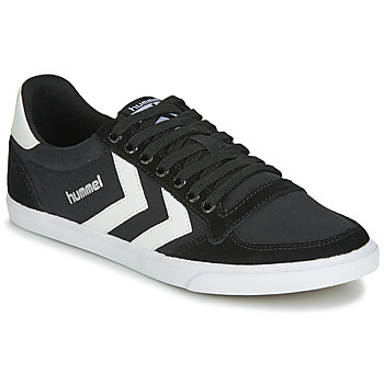 Chaussures Homme Baskets basses Hummel TEN STAR LOW CANVAS Noir / Blanc