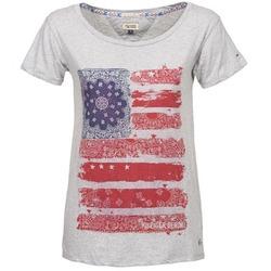 Vêtements Femme T-shirts manches courtes Hilfiger Denim CARLIE Gris