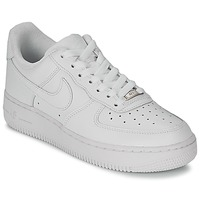Chaussures Air max tnFemme Baskets basses Nike AIR FORCE 1 07 LEATHER W Blanc