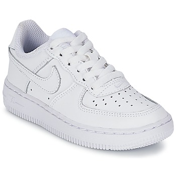 Chaussures Air max tnEnfant Baskets basses Nike AIR FORCE 1 Blanc