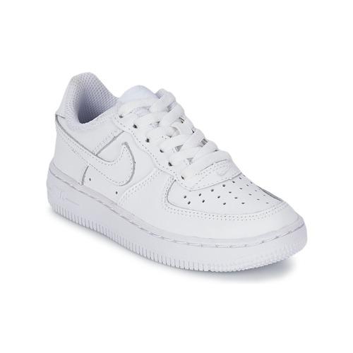 Chaussures Enfant Baskets basses Nike AIR FORCE 1 Blanc