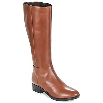 Chaussures Femme Bottes ville Geox D FELICITY Marron