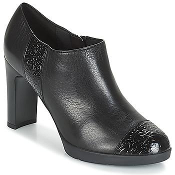 Chaussures Femme Low boots Geox D ANNYA HIGH Noir