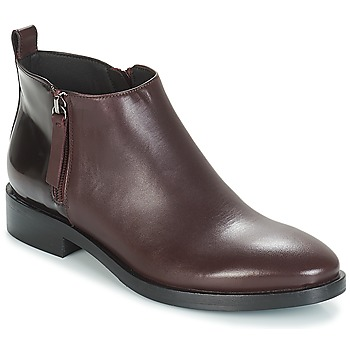 Chaussures Femme Boots Geox DONNA BROGUE Bordeaux