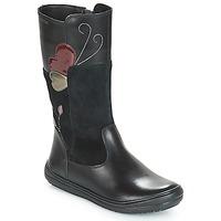 Chaussures Enfant Bottes ville Geox J HADRIEL Noir
