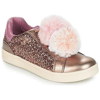 Chaussures Fille Baskets basses Geox J DJROCK GIRL Beige / Rose