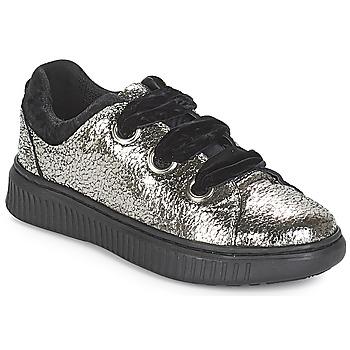 Chaussures Fille Baskets basses Geox J DISCOMIX GIRL Argenté