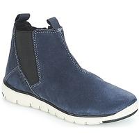 Chaussures Garçon Boots Geox J XUNDAY BOY Marine