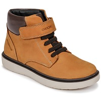 Chaussures Garçon Baskets montantes Geox J RIDDOCK BOY WPF Marron
