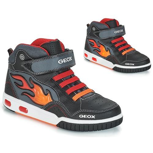 Geox JR GREGG Noir   Rouge - Chaussure pas cher avec Shoes.fr ... 36d30086e9e9