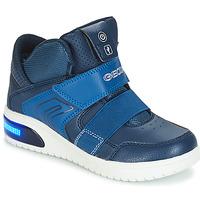 Chaussures Garçon Baskets montantes Geox J XLED BOY Marine