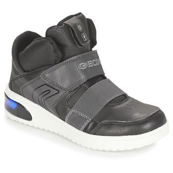 Chaussures Garçon Baskets montantes Geox J XLED BOY Noir