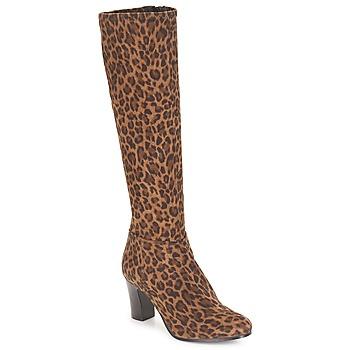 Chaussures Femme Bottes ville André GANTELET 4 Leopard