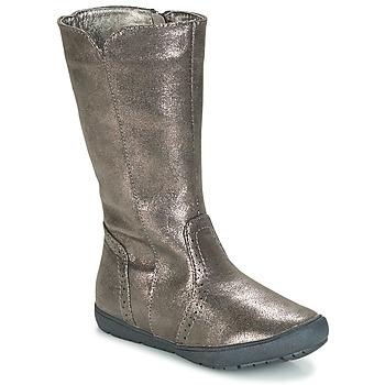Chaussures Fille Bottes ville André SCINTILLANTE Argent