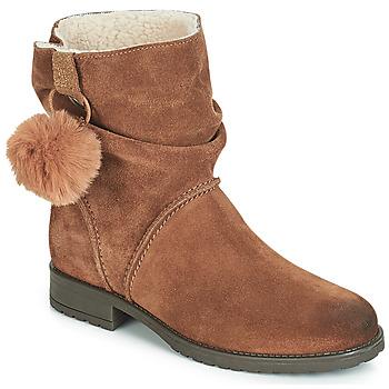 Chaussures Fille Boots André NOLA Marron