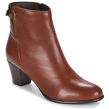 Chaussures Femme Bottines André PASSIONA Cognac