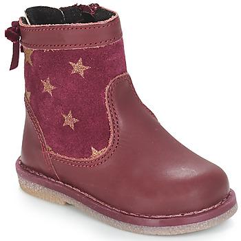 Chaussures Fille Boots André PARME Bordeaux