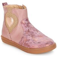 Chaussures Fille Boots André MAUVE Rose