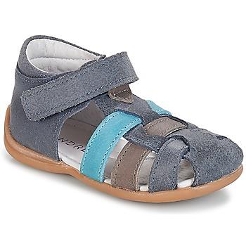 Chaussures Garçon Sandales et Nu-pieds André LES PRALINES Bleu