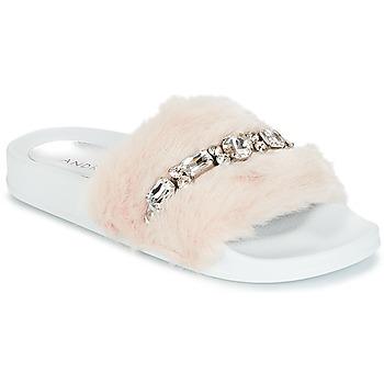Chaussures Femme Claquettes André DIADEME Blanc