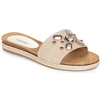 Chaussures Femme Mules André LUCKY Ecru